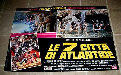 Warlords Of Atlantis 1978 vintage sci-fi half-sheet original matinee in Spanish