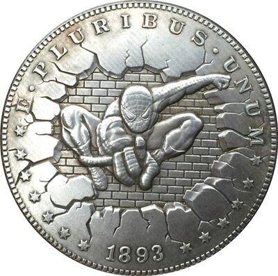 1893-S Hobo Nickel USA Morgan Dollar SPIDER MAN Marvel COIN