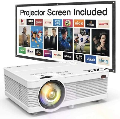 4500 Lumens Mini 1080P Full HD Supported Portable LCD Projector