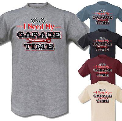 T-Shirt Garage Time Hot Rod Bobber Motorcycle Harley Triumph Vintage Race V8 Car online kaufen