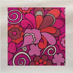 Anni-039-60-retro-Motivo-Tessuto-Rosa-Panel-Fare-Un-Tappezzeria-Cuscino-Artigianato