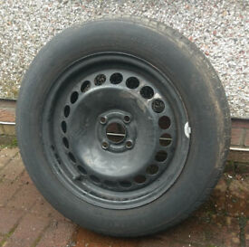 Corsa D spare wheel with nearly new tyre
