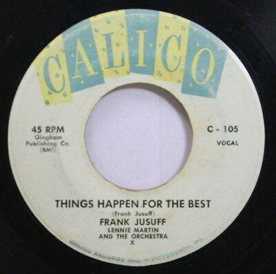 Hear! Pop 50S 45 Frank Jusuff - Things Happen For The Best / Seven Come Heaven