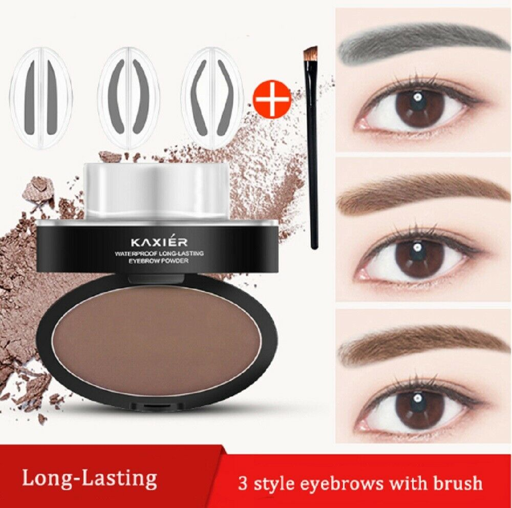 Eyebrow Stamp Powder Natural Delicate Shape Eye Makeup Waterproof Mirror Gel US Eyebrow Liner & Definition