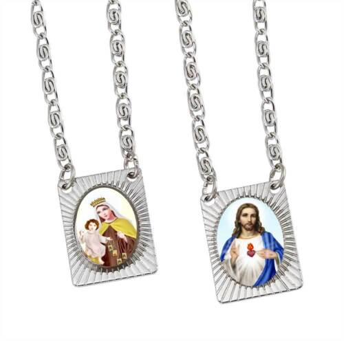 Stainless Steel Squared Scapular Necklace Strond and Long Chain Unisex