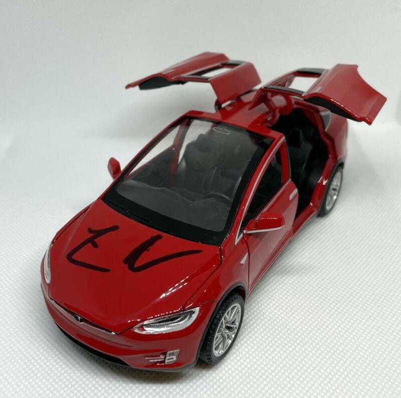 ELON MUSK SIGNED AUTOGRAPH 1:32 DIECAST TESLA MODEL X (RED) CAR - VERY RARE JSA