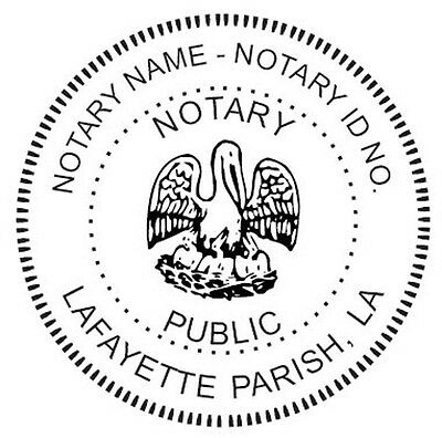 State Of Louisiana Custom Round Self-inking Notary Seal Rubber Stamp Ideal 400r