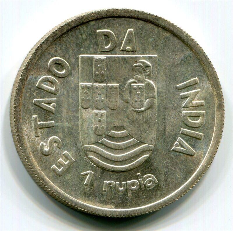 India-Portuguese - 1935 1Rupia in CH BU