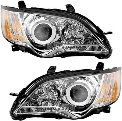 Headlights Headlamps Assembly w/Bulb NEW Pair Set for 08-09 Subaru Legacy for sale  USA