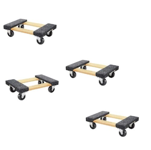 Furniture Moving Dolly 4 Pack 1000lb Capacity Small Wood Mover