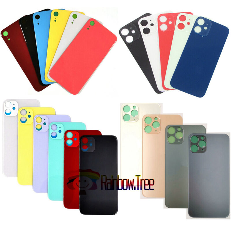Big Cam Hole Back Glass Back Door For iPhone 8 X XS XR iPhone 11 iPhone 12