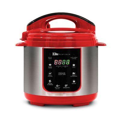 Elite Platinum EPC-445-R Maxi-Matic 4 Quart Electric Pressure Cooker RED
