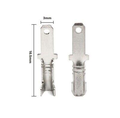 10 Conectores Faston Masculino 2.8mm Tapón M Cable Eléctrico Terminales Aw 22...