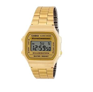casio vintage retro gold digital watch ebay. Black Bedroom Furniture Sets. Home Design Ideas