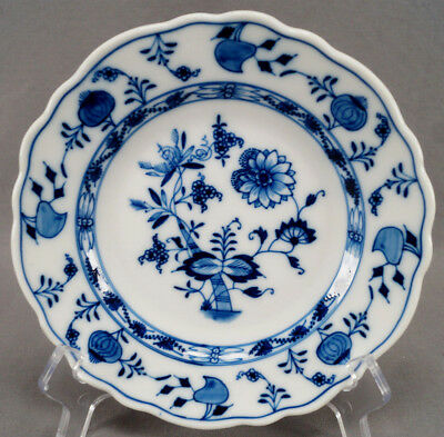 Set of 3 Teichert Meissen Blue Onion Pattern Dessert Plates Circa 1882 - 1929