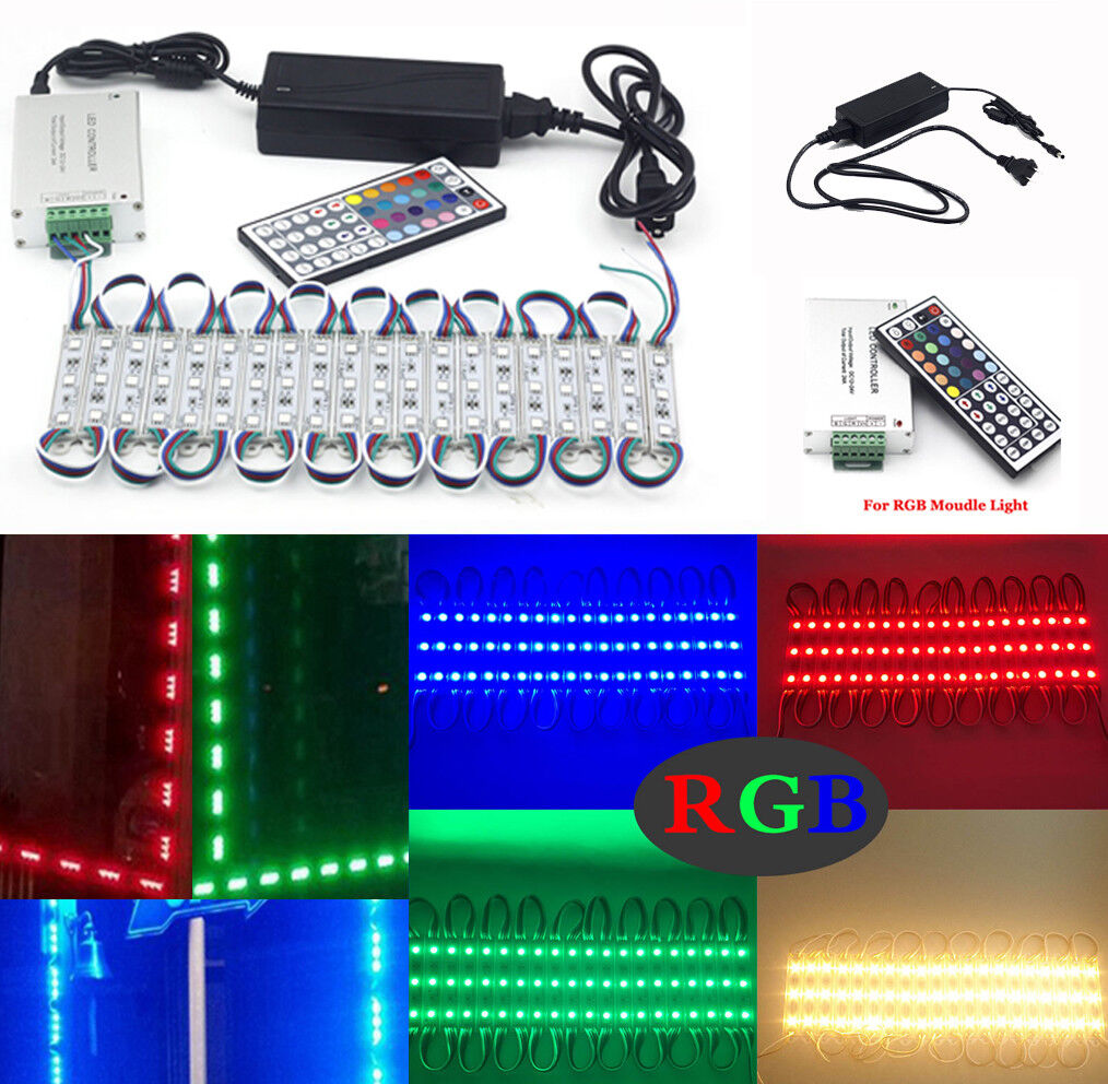 Details About Rgb 10 500ft 5050 Smd 3 Led Module Window Front Light Strip Business Lamp