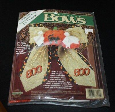 New Halloween Door Decoration Kit Burlap Bow Ghosts 11