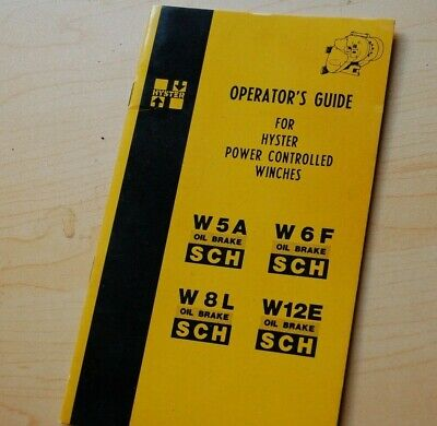 Cat W5a W6f W8l W12e Caterpillar Tractor Hyster Winch Owner Operator Manual Book