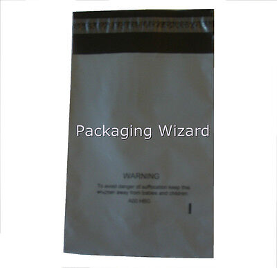 5 x Mailing / Postal Bags ~ Biodegradable ~ Grey ~ 160 x 220mm / 6.5 x 9ins