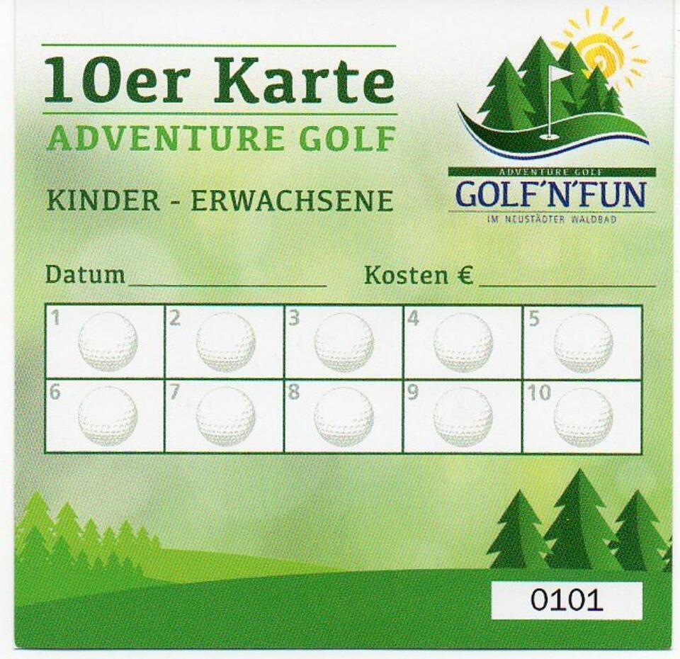 Neustädter Waldbad 10er Karte Adventure Golf ´N´Fun in Neustadt