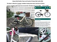 Dawes Red Feather Town and Country Vintage Style Ladies bike