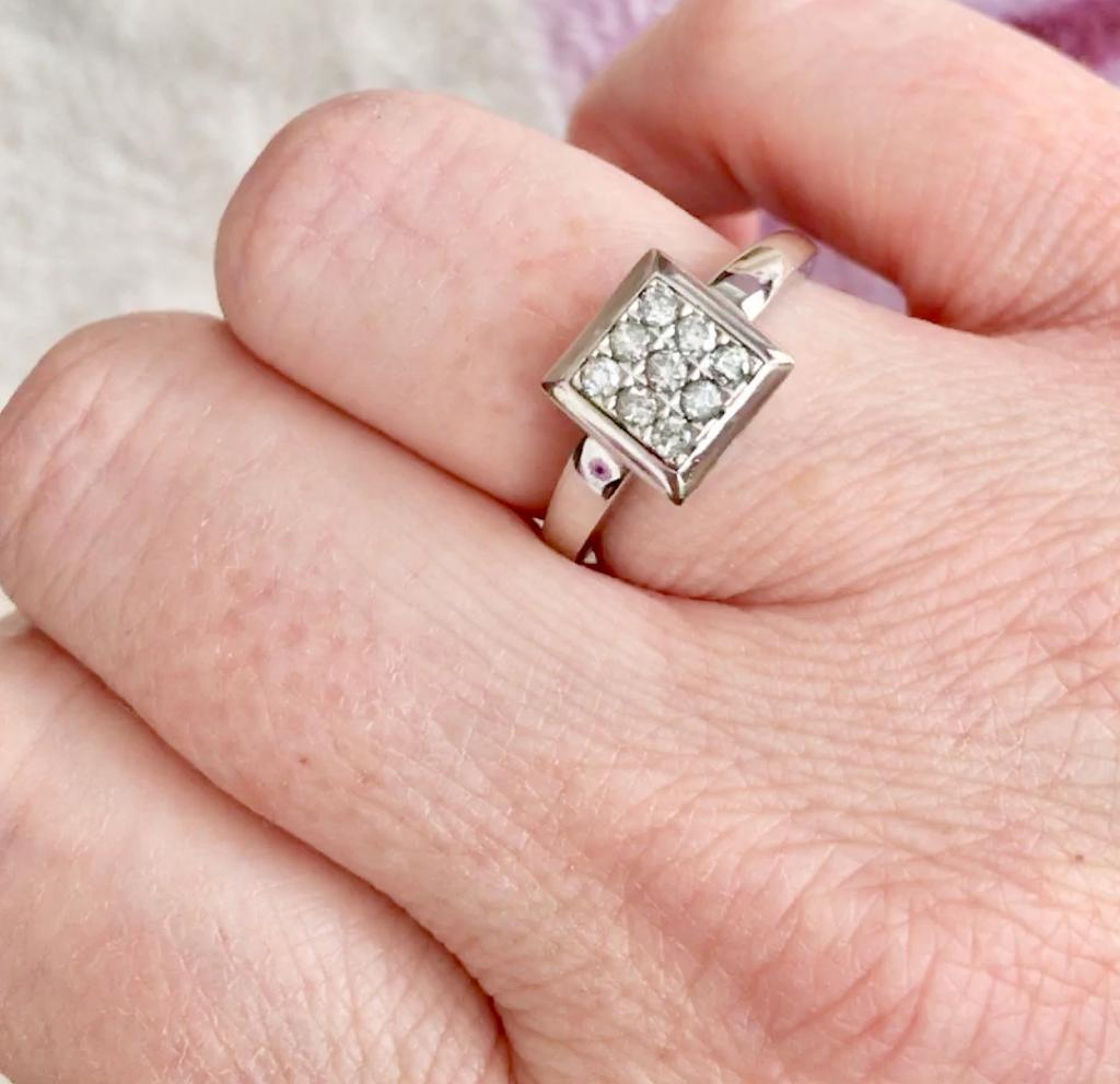 18ct white gold diamond ring | in Fleckney, Leicestershire | Gumtree