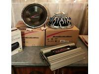 JVC 520 watt Power amplifier & 2 Audiobahn 400 watt Woofer speakers