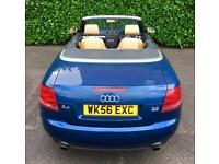 70000 MILES 2007 CONVERTIBLE AUDI A4 SPORT QUATTRO (4WD 4X4) FSI 3.2 256 BHP 6 SPEED MOT 7.18