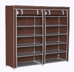 NEW Homebi Shoe Rack Closet Tower Portable Storage Organizer Double Rows 6-Tier Space