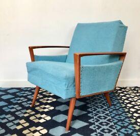 Vintage Retro Armchair Blue #634