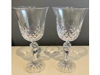 Pair of Vintage Cut Crystal Wine Glasses