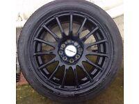 FORD FIESTA MK6 Calibre Rapide Alloy Wheels Matt black 195/50/15 100 or 108 PCD