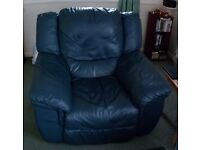 *****ONLY £70 EACH***** FULLY RECLINING TOP GRADE REAL SOFT LEATHER HIDE HEAVY DUTY CHAIRS
