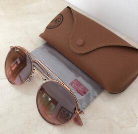 Rayban Round Double Bridge Sunglasses
