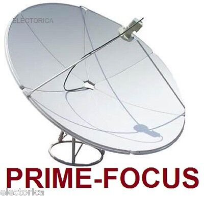 6.9 FT 210CM Prime FOCUS SOLID METAL C/ KU BAND SATELLITE DISH ANTENNA 2.1 Meter for sale  USA
