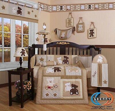 Baby Boutique Teddy Bear GEENNY 13PCS Nursery CRIB BEDDING SET