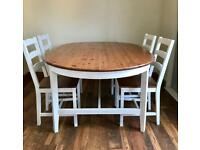 Dining Table and 4 chairs freshly painted