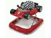 Red racing car baby walker for sale