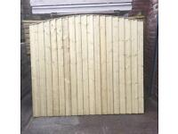 🌲Tanalised Close Board Wooden Garden Fence Panels ~ Arch Top