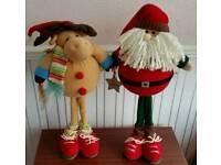 Christmas standing Santa & Reindeer