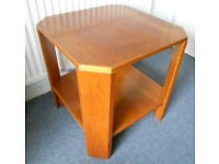 Oak Side Table or Lamp Table with Shelf