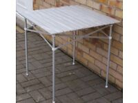 ROLL UP UNUSED ALUMINIUM TABLE FOR CAMPING/AWNING £20, NEW ELECTRIC HOOK UP CABLE 10 METRE £15