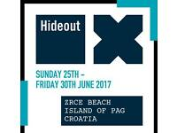 HIDEOUT TICKET including WELCOME BOAT PARTY