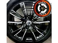 "17"" Genuine alloys VW Audi refurb black/silver matching tyres."