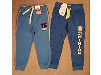 2 BOYS JOGGING PANTS. BRAND NEW WITH TAGS MINIONS AGE 4-5