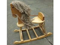 Child's Toy Rocking Horse in Pine