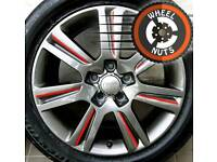 "17"" Genuine SE alloys Audi VW refurb anthracite/red good tyres."