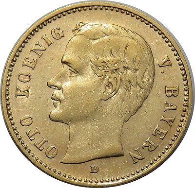 10 Mark 1903 - Kaiserreich - Otto König von Bayern - 3,98g Au