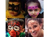Kid's Face Painting - £25 per hour or £3 per face.