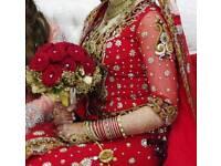 Wedding lehanga with jewelry for sale